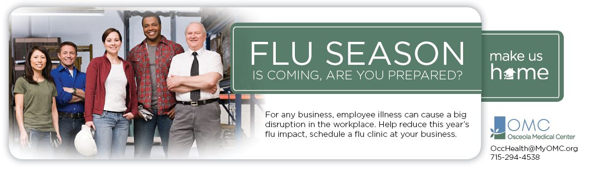 On-Site Flu Shot Clinic Banner Ad