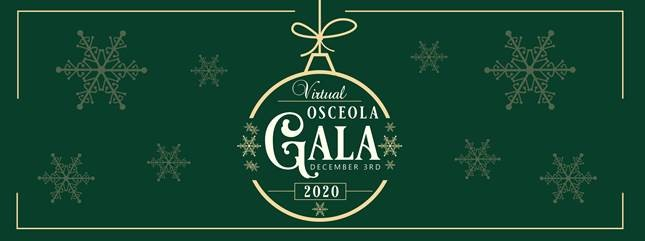 christmas themed invitation to the 18th Annual Holiday Gala