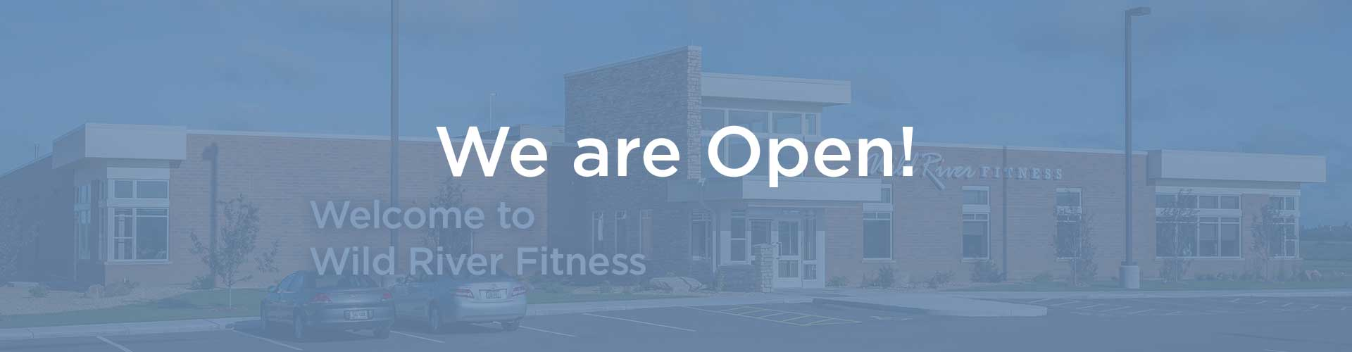Welcome to Wild River Fitness Banner